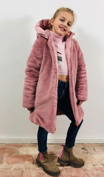 Fury9 Hooded Coat Blush Pink