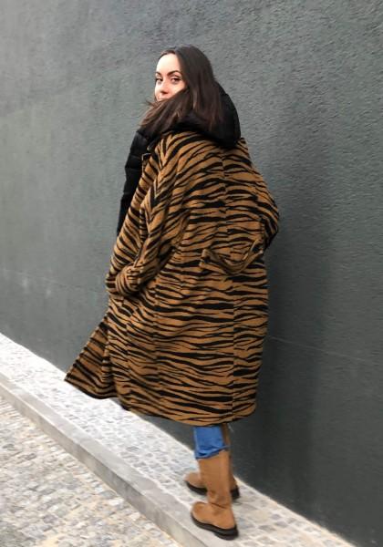 Coat Cirah Animal Bronze/Zebra