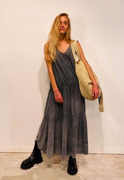Maxi Dress Bleach silver grey