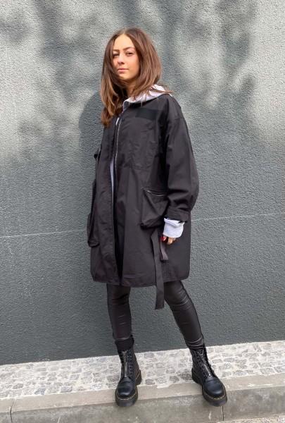 Coat oversized black