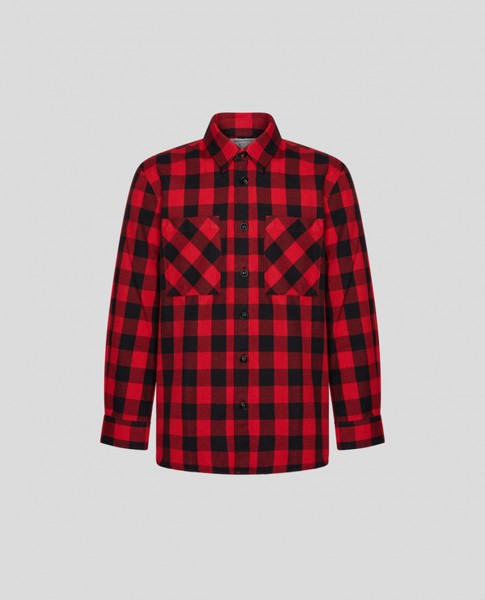 Boys Buffalo Flannel Shirt Red Buffalo