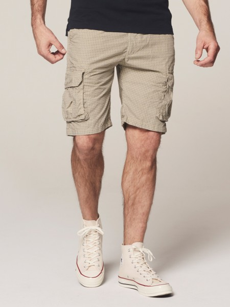 Combal Shorts with Belt Graphic Popeline