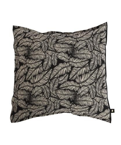 Pillow Cover Leaf black