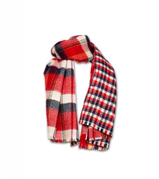Matt Max check scarf red