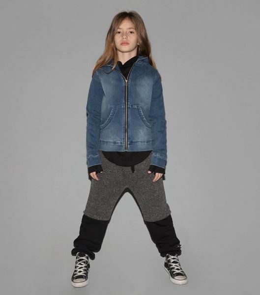Double Sweatpants Charcoal & Black