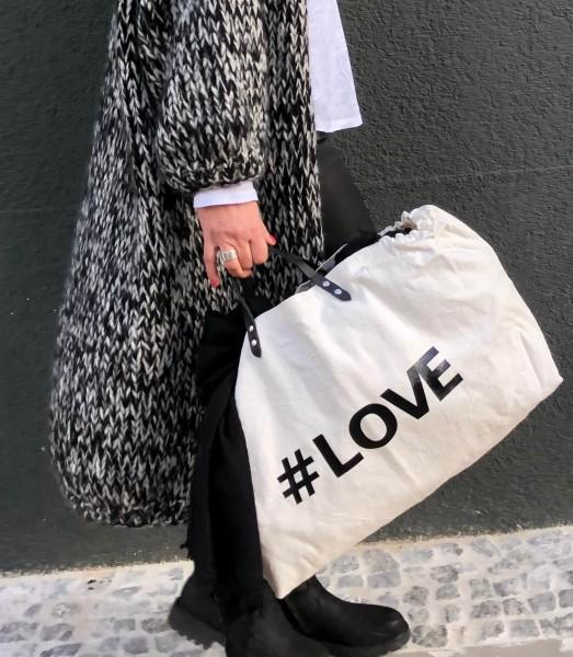 Handbag Elastic #Love Black Bag