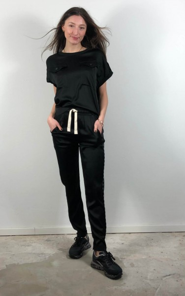 Easy Pants shiny black