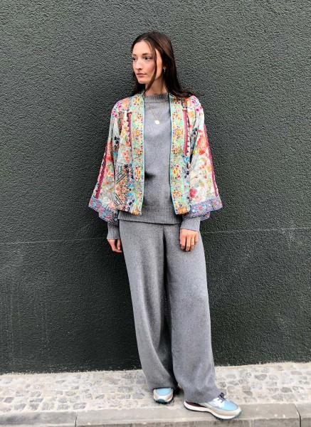 Tavis Kimono Reversible Silver