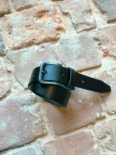 Black Leather Belt 009