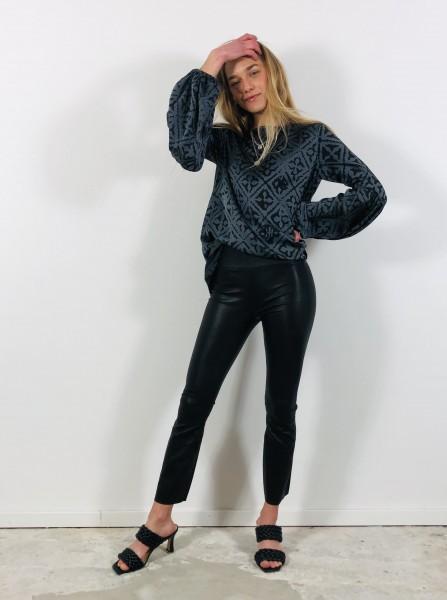 Samie Sandale Plain Leather black
