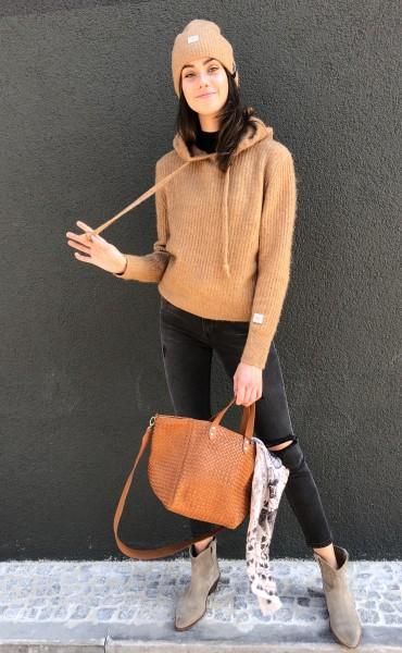 Soft Hoodie Sweater caramel