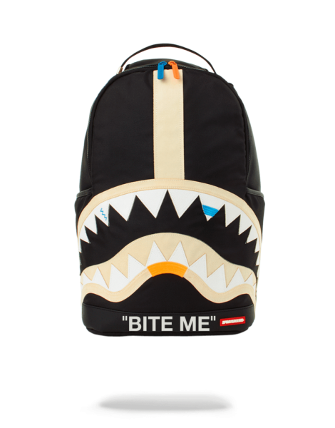Bite Me Shark black Backpack