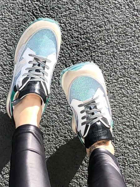 3Dome Shiny Azure/Black Damen Sneaker