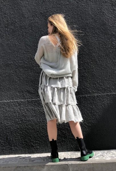 Ruffle Skirt Crinkle pistache
