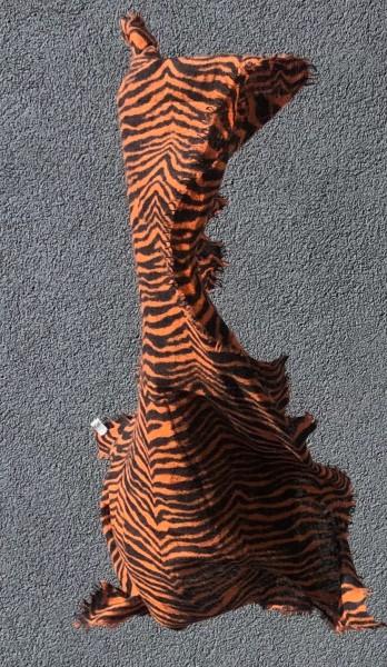 Cashmere Schal Zebra neon orange black