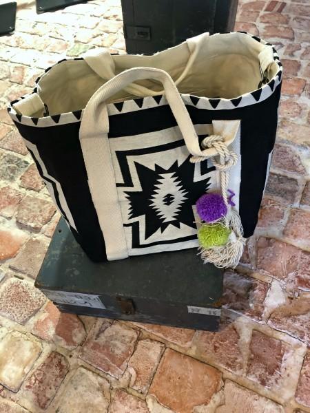 Beach Bag XXL Black/Offwhite