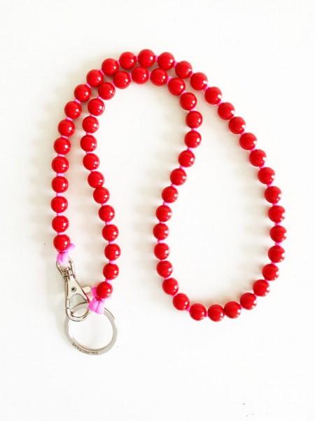 Schlüsselanhänger Lang Red/Pink