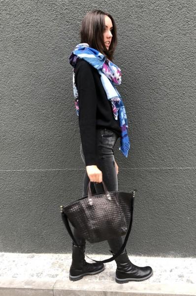 Handbag le Sac Tressé medium black
