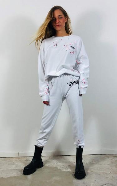 White Paint Splatter Sweatshirt