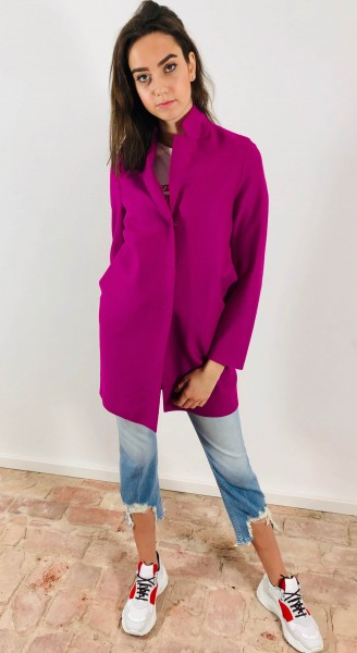Cocoon Coat Light Wool orchid