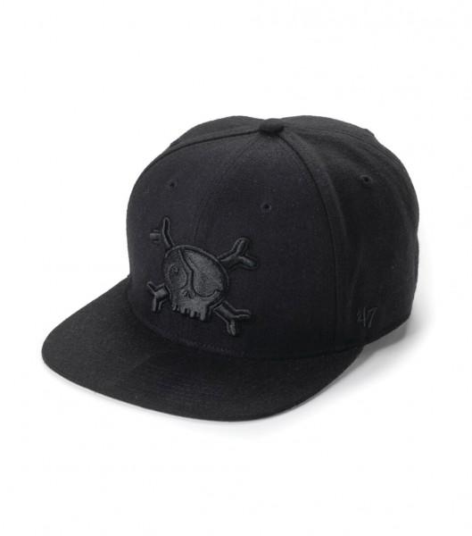 Logo Baseball Cap Black Skull