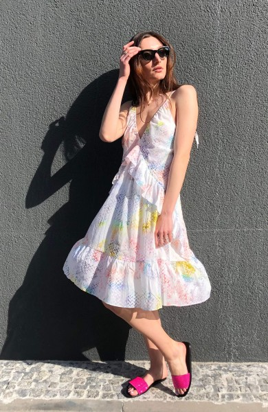 Dress Djamila Rainbow Kufiya