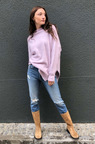 Oversized Pullover orchid