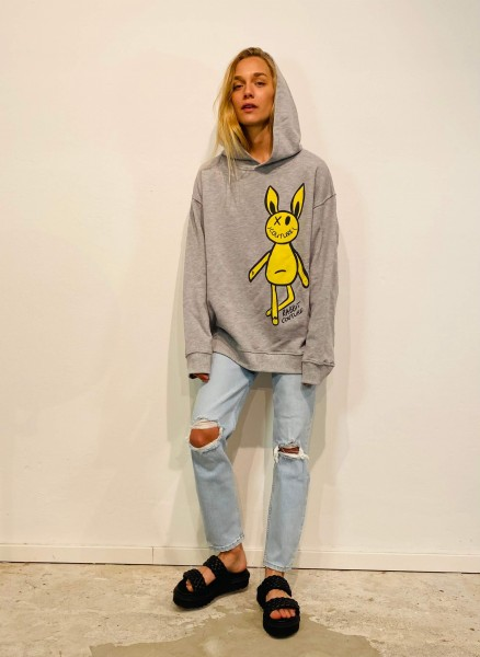 90S High Rise Ankle Crop destroyed Ice Blue