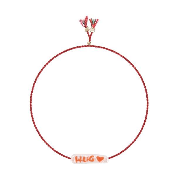 Charm Bracelet HUG Heart Süßwasserperle