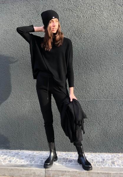 Margareth Poncho Pull Noir
