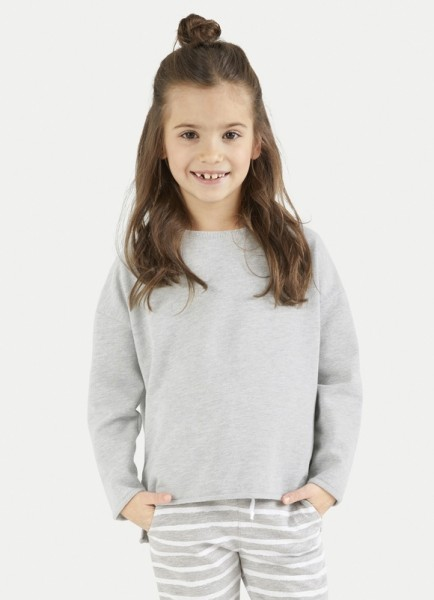 Fleece Sweater light Grey Melange