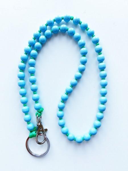 Schlüsselanhänger Lang Pastellblau-Grün