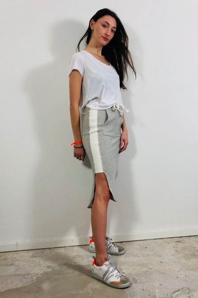 Kangaroo Skirt light grey melee
