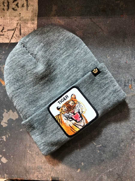 Knit Hat Tiger Mouth grey