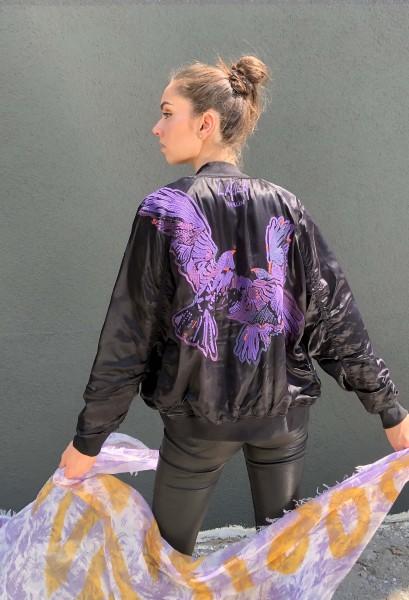 Jacket Libby Black Falcon Embroidery