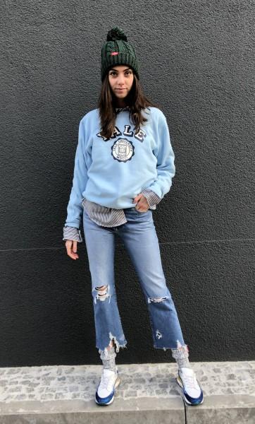 Yale Sweatshirt light blue