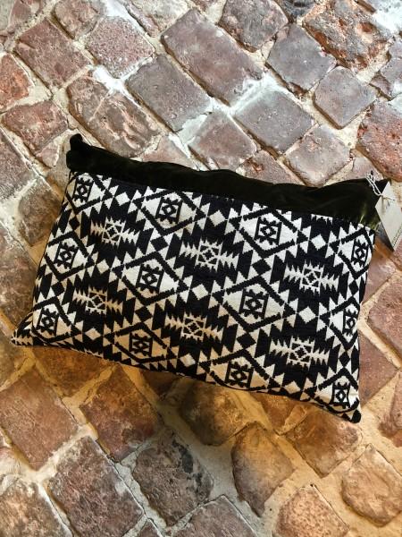 Pillow Black/White/Khaki 67x45