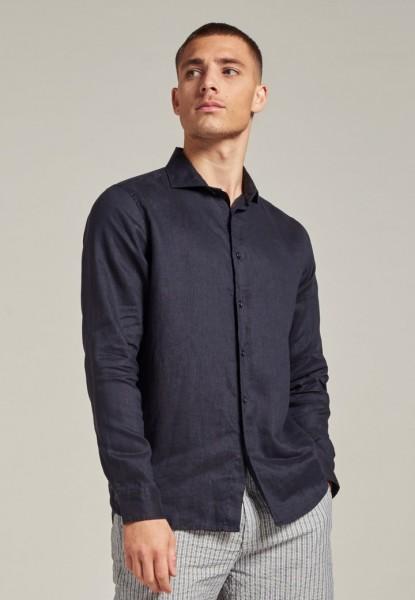 Jagger Shirt Linen Dark Navy