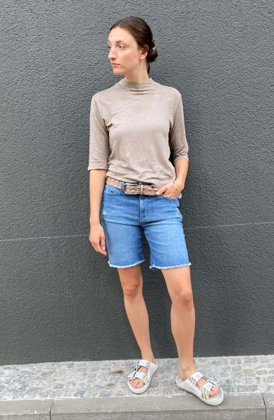 Coll Neck Shirt cool grey