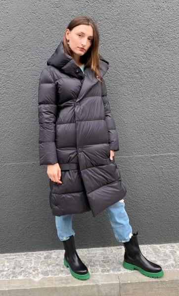 Down Coat Long Black