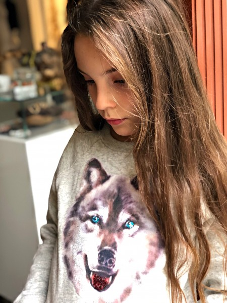 Wide Sweater Dress Wolf