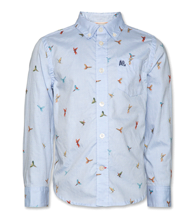 Button Down Parrot Shirt