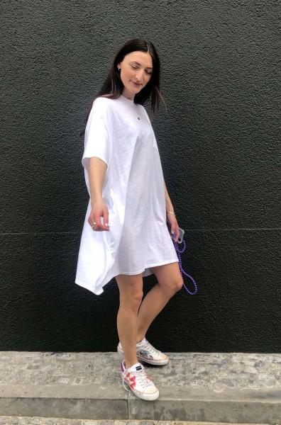 Pocket Tee Dress white