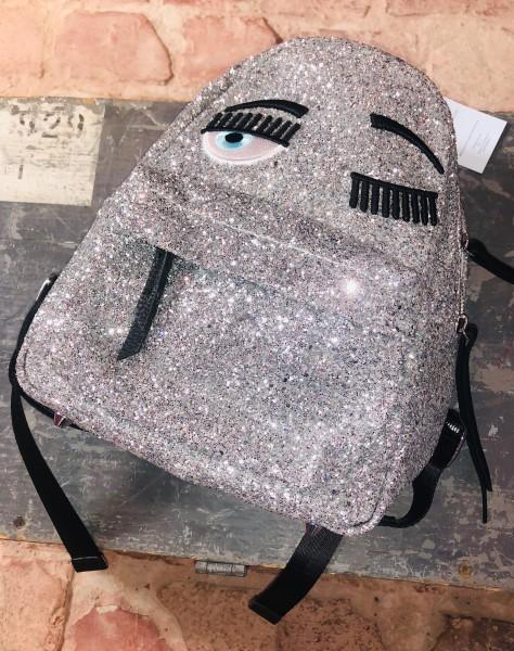 Backpack Glitter Smal Silver