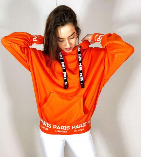 Hoodie Sweat orange Paris