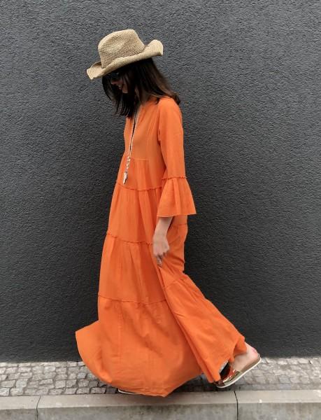 Ella Long Dress orange