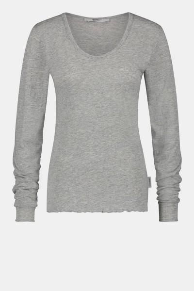 Longsleeve Basic grey Mel