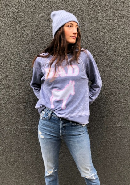 BAD A** Sweater Vintage Blue