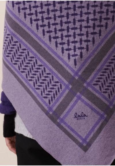 Triangle Trinity Colored Light Grey on Purple