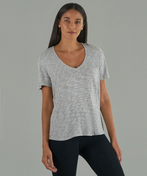 Slub Jersey Boyfriend Heather grey